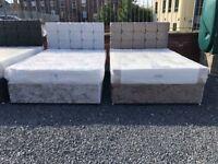 Brand new crushed velvet double divan sets ONLY £250