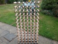 Winerack. Wood and metal design. Holds 78 bottles.