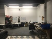 Share a Work space/Industrial/Warehouse/Storage area. 700-800 Sq ft. Tower Hill.