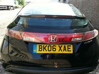 HONDA CIVIC 1.8 VTEC SE SPORT 2006 REG LOW MILES 90K 5DR HATCHBACK BLACK