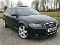 06 AUDI A3 2.0 TDI S LINE SPORTBACK DSG AUTOMATIC PADDLE GEARS PAN ROOF BOSE HEATED ELECTRIC LEATHER