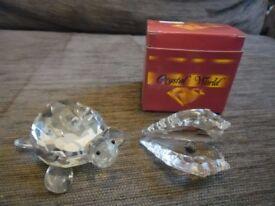 Large Crystal Tortoise & Crystal World Oyster