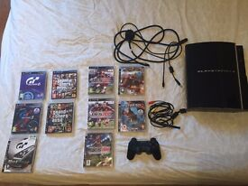 Playstation 3 w/ 10 games inc. GTA-V + GT6