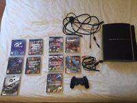 Playstation 3 w/ 10 games inc. GTA-V + GT6