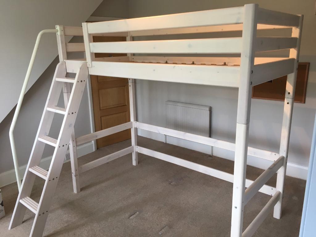 flexa hi midi sleeper white single bed and mattress with. Black Bedroom Furniture Sets. Home Design Ideas