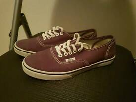 Purple Vans Shies Size 3.5 worn once.