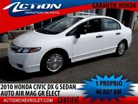 2010 Honda Civic DX-G,AUTOMATIQUE,AIR  MAG