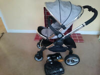 Brand New Silver Mint iCandy Peach 2 Pushchair with Seat Liner and Raincover