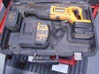 Dewalt 24 V Cordless Reciprocating Saw with 2 new batteries