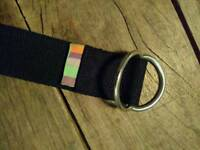 Yoga belt strap (10) Yogamatters un-used black with d-ring