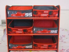 Boys disney cars storage unit in excellent condition, like new