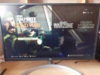 LG 4K Ultra HD 27 LCD Gaming Monitor - White