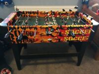 Table top football 4 foot by 1 foot