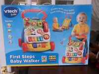 NEW VTECH FIRST STEPS BABY WALKER , NEW IN BOX WITH OTHER