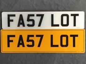 Registration number FA57 LOT