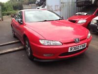 1997 Peugeot 406 coupe 3.0 V6 SE red BREAKING FOR SPARES