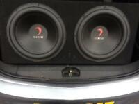 2 x subs and amp