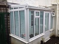 uPVC and Glass Conservatory/sunroom, Approx 3m by 1.6m, very good condition.