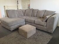 Corner sofa and footstool for sale