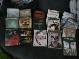 HORROR COLLECTION 2 OF DVDS X 15