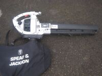 Spear & Jackson Petrol Leaf Blower / Vac, 1st Time Starter, Good Condition