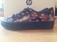 Floral Plimsoles Size 6