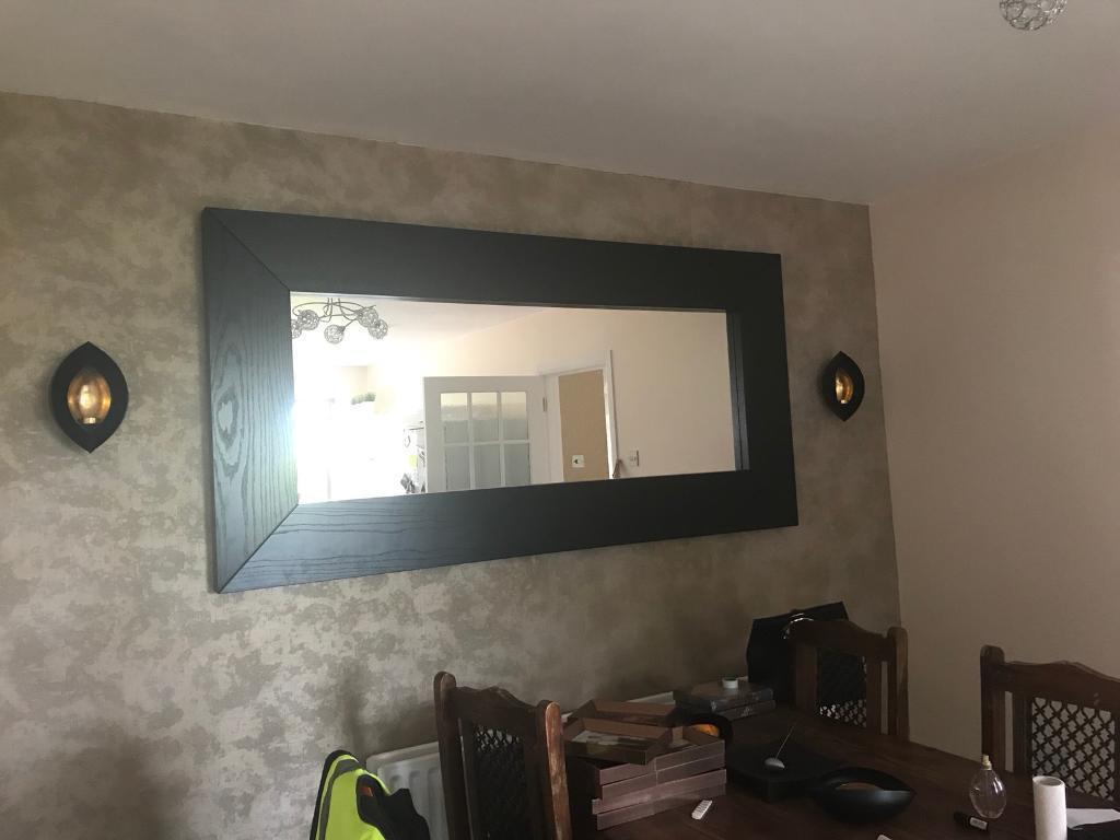 Large frame mirror
