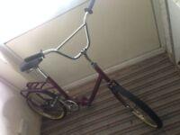 retro Folding bike Hawk 20 inch custom bargain! new parts