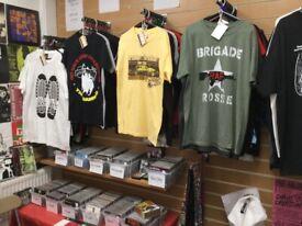 Records, CDs & t shirts