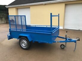NEW ALL STEEL CAR TRAILER 7ft LONG 4ft 4in WIDE