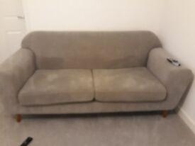 Grey 1 year old sofa