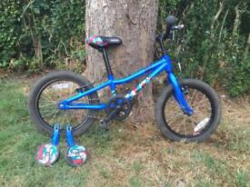 "Child's bike 16"" with stabilisers"