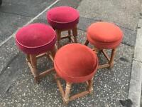 4 small bar pub stools, 2 different pairs. Just £20 for all 4