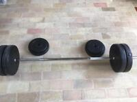Bar bell with weights
