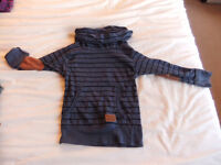 Striped Cowl/Turtle Neck style Top Age 2-3 Years