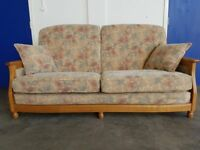 ERCOL 3 SEATER SOFA / SETTEE / SUITE WOODEN FRAME HIGH QUALITY COUCH DELIVERY AVAILABLE