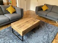 2 two- seater grey sofas