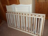 Cot Bed and changing board for sale.