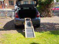 wooden sliding dog ramp