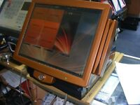 "custom colour icr touch epos point of sale till system 15"" display built in customer display"