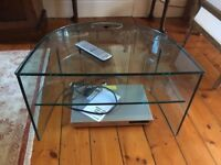 Glass TV Stand, perfect condition