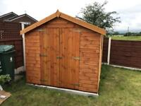 8x8 APEX ROOF GARDEN SHEDS (HIGH QUALITY) £599.00 ANY SIZE (FREE DELIVERY AND INSTALLATION)
