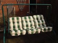 Homebase Garden Swing 3 seater with Cusions