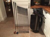 Golf clubs-Taylormade Driver-Mizuno 3 Wood-full set of Irons-Putter-Golf Bag-Golf Glove-Balls & more