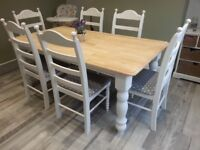 Charming 6ft Table and Chair Set