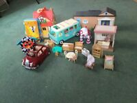 Bundle of high quality toys suitable for 5-9 yrs inc lots of Sylvanians, Furby, Mr Men book-set etc.