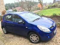 Hyundai i20 Classic, Blue, 1.2, vgc, transferable warranty FSH AA condition report, reluctant sale