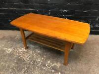 Fabulous mid century teak coffee table