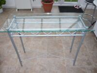 Glass table - ideal for putting plants on in a conservatory etc.
