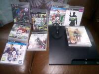 320gb ps3 with games and ear piece